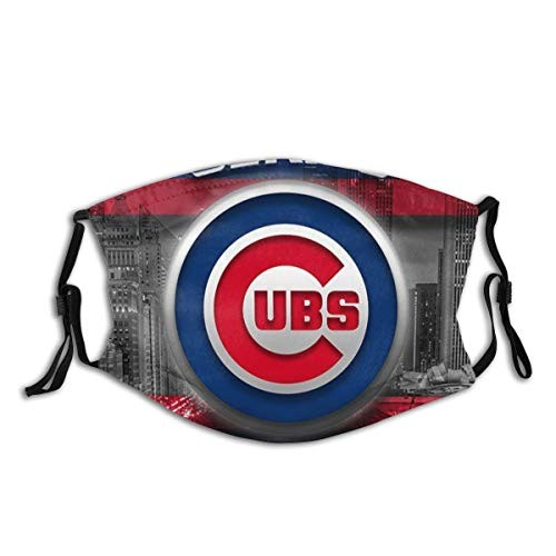 Chicago C-u-b-s (12) Unisex Washable and Reusable Cotton Warm Face Protection for Outdoor for MLB Sport Team Chicago Cubs face mask
